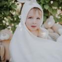 Prosop Bunny bumbac organic 120x75 cm
