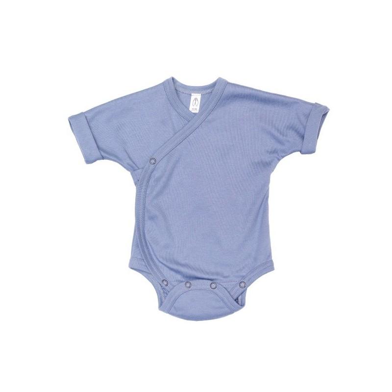 Body bumbac organic albastru prafuit