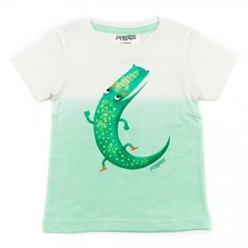 Tricou din bumbac organic cu crocodil