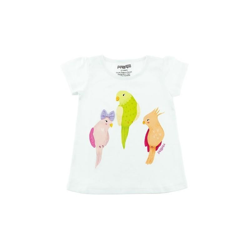 Tricou din bumbac organic cu papagali