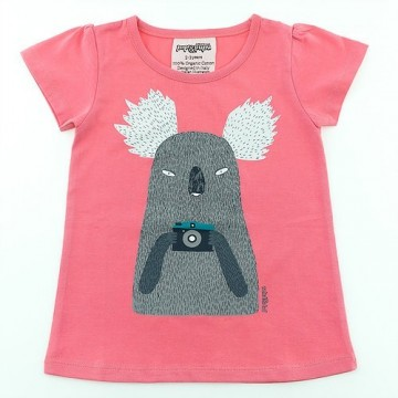 Tricou din bumbac organic cu ursulet koala